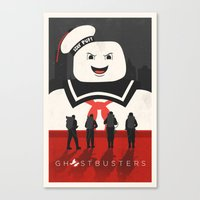 ghostbusters Canvas Prints featuring Ghostbusters by Bill Pyle