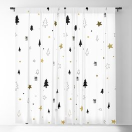 Christmas Pattern Blackout Curtain