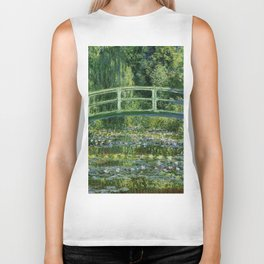 Water Lilies and Japanese Footbridge, Claude Monet Biker Tank