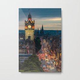 Edinburgh Cityscape Metal Print