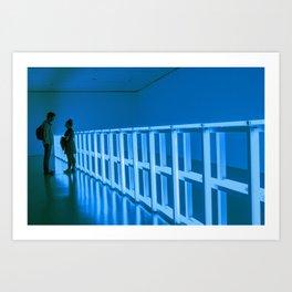 La Vie en Bleu Art Print