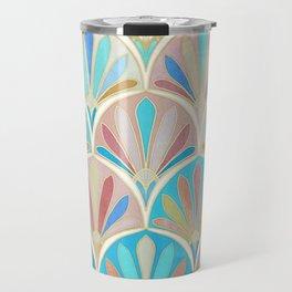 Vintage Twenties Art Deco Pastel Pattern Travel Mug