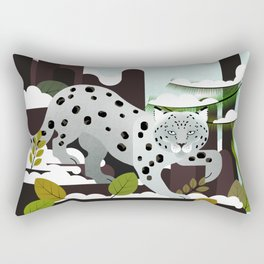 Snow Leopard - Made for the Mountains Rectangular Pillow
