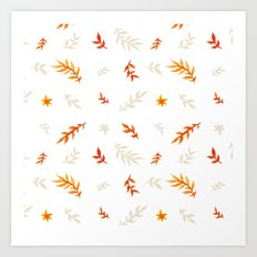 Watercolor autumn Art Print