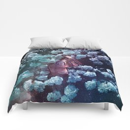 Love Finger Snap Space Floral Comforters
