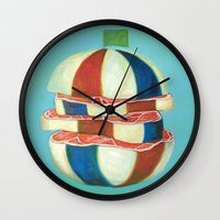 dragon ball Wall Clocks featuring Ball by colorlabo