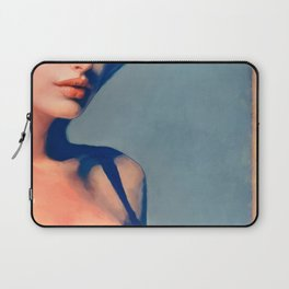 Portrait Of Young Woman With Large Eyes Laptop Sleeve