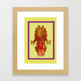 Abstracted Yellow-Orange-Gold Iris Drawing Framed Art Print