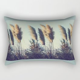 Reeds in the wind Rectangular Pillow
