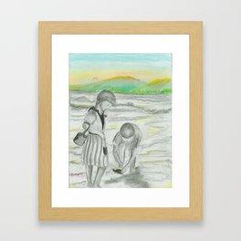 Turtle Rescue Framed Art Print