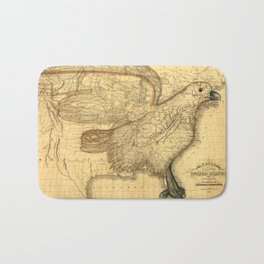 The eagle map of the United States, 1832 Bath Mat