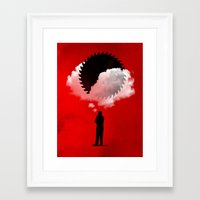 bad idea Framed Art Prints featuring Bad Idea by rob dobi
