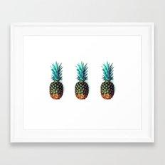 tri soldier pineapples Framed Art Print