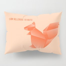 Allergic to Nuts - Origami Orange Squirrel Pillow Sham