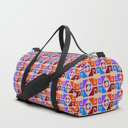Mexican Aztec Geometric Pattern Duffle Bag