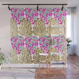 Chic Girly Gold Pink Purple Teal Painted Tear Drop Wall Mural