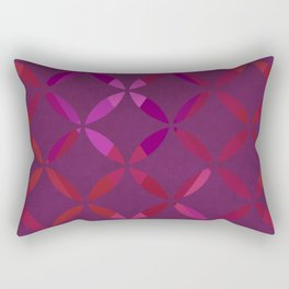 Fancy red and pink circle pattern Rectangular Pillow
