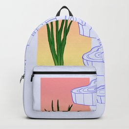 scallion cross section graphic Backpack