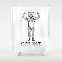 Strongman Bodybuilder Gym Rat Shower Curtain