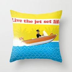 Live The Jet Set Life! Throw Pillow