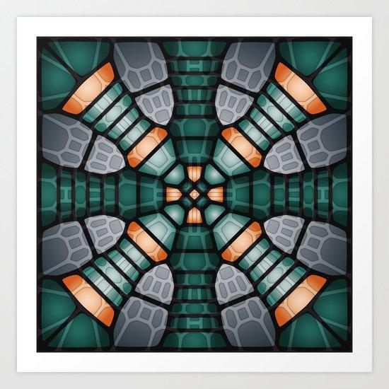 Neural network - Voronoi Art Print