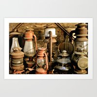 lanterns Art Prints featuring lanterns by Lisa Carpenter
