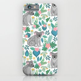 Floral Koala iPhone Case