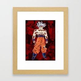 Goku Ultra Instict vs Broly Framed Art Print