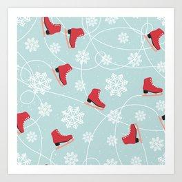 Winter Ice Skating Art Print