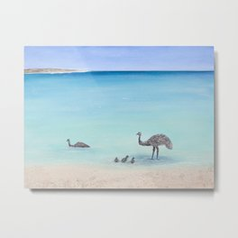 Surfin' Bird Metal Print