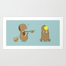 Crack Up Art Print