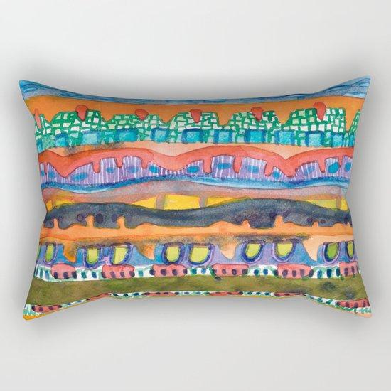 City On The Edge Of The Desert  Rectangular Pillow
