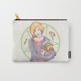 Willow Rosenberg of Buffy The Vampire Slayer Watercolor Portrait Illustration Carry-All Pouch