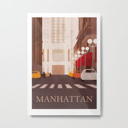 New York Manhattan watercolor Metal Print