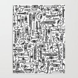 Horns B&W II Poster