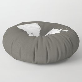 Louisiana is Home - White on Charcoal Floor Pillow