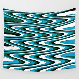 Blue green slur Wall Tapestry
