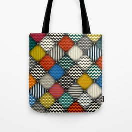 buttoned patches Tote Bag