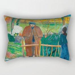 Bonjour Monsieur Gauguin (II) - Paul Gauguin (1889) Rectangular Pillow