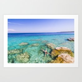 Vibrants waters of The Bruce  |  Tobermory, Canada Art Print
