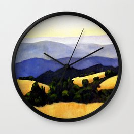California Landscape Wall Clock