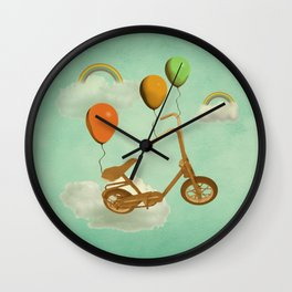 in my world, we bike from cloud to cloud ! Wall Clock