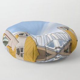 Cube houses in Rotterdam Floor Pillow