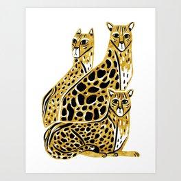 Gold Cheetahs Art Print