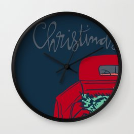 Cut Your Own Christmas Trees Wall Clock