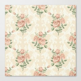 Rose vintage pattern  Canvas Print