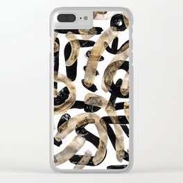 Pattern Number 27 Clear iPhone Case