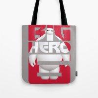 big hero 6 Tote Bags featuring Baymax - Big Hero 6 by Nguyen