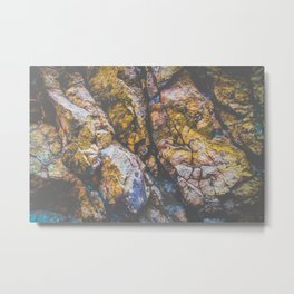 colorful textured rock background Metal Print