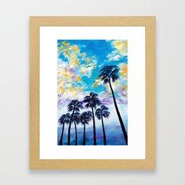 Oceanside Palm Trees Framed Art Print